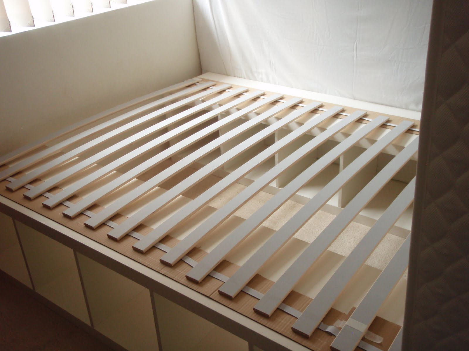 Expedit re purposed as bed frame for maximum storage